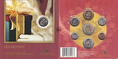 2006 Canada Holiday 7 Coin Set With Colorized Rudolf Quarter OGP