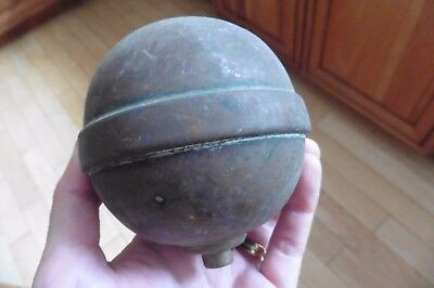 Finial Brass vintage pole top staff lamp light rounded ball sphere weathervane