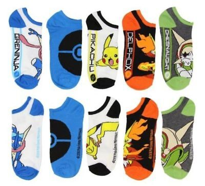 Pokemon Character No Show Socks (Pack of 5)