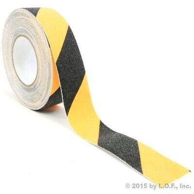 "2"" x 60' Safety Non Skid Grit Grip Tape Anti Slip Yellow Black Sticker Adhesive"