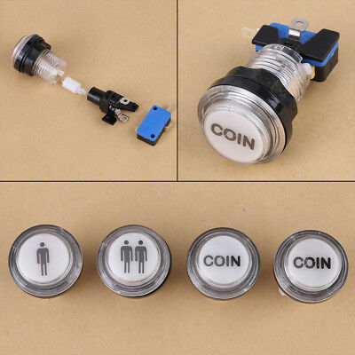 4x LED Start Push Button Kit 1P 2P Start Buttons + Coin Button For Arcade Games