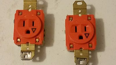 Quantity 1 Hubbell Ig5261 Orange Receptacle, Isolated Ground, 15A, 125V