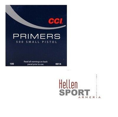 CCI Primers 500 | Small Pistol #0014 (100pz)