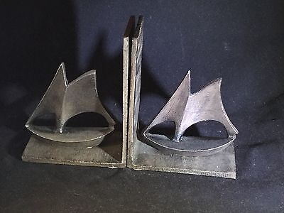 Antique Bronze Finish Sailboat Bookends