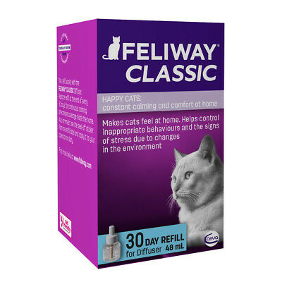 FELIWAY CLASSIC DIFFUSER 30 DAY REFILL 48ml For Pheromone Diffuser - BEST PRICE!