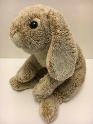 """Animal Alley Toys R Us, Lop Eared Bunny Rabbit Plush Bean Bag, Heavy 10"""" seated"""