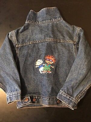 Vintage 90s Rugrats Cartoon XS Extra Small Denim Jacket Cartoon Nickelodeon