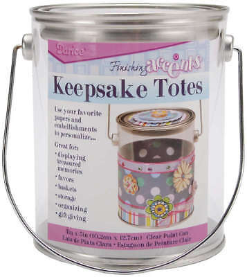 "Keepsake Totes Clear Paint Can 4""X5"" 121263"
