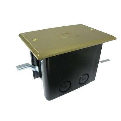 Simplex Device 24-1/2 cu. in. Old Work Rectangular Floor Box with Brass Cover