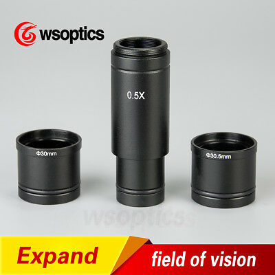 0.5X 0.4X C-mount adapter for Microscope CCD Camera 1/2 Digital Eyepiece Lens
