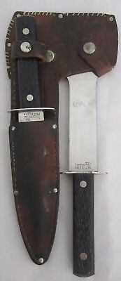 Vintage IMPERIAL PROV RI USA Hunting knife & Hatchet Combo with Leather sheath