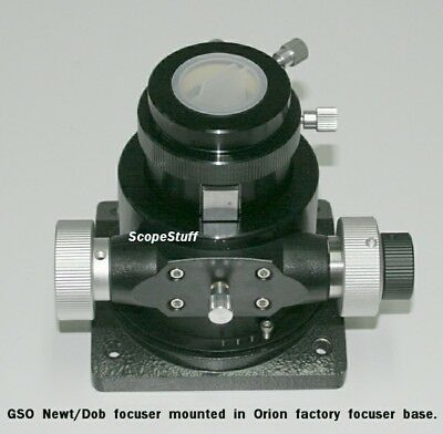 "GSO 2"" Crayford Linear Bearing Heavy Lift Newt/Dob Focuser for SOME Orion DOBs"