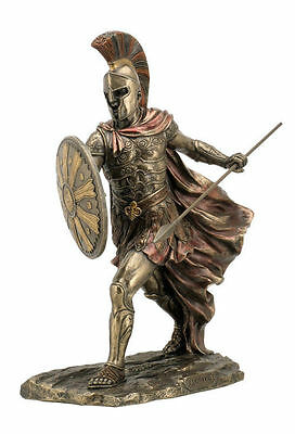 Achilles Unleashed With Spear & Shield Statue Sculpture Figurine Troy FAST SHIPP