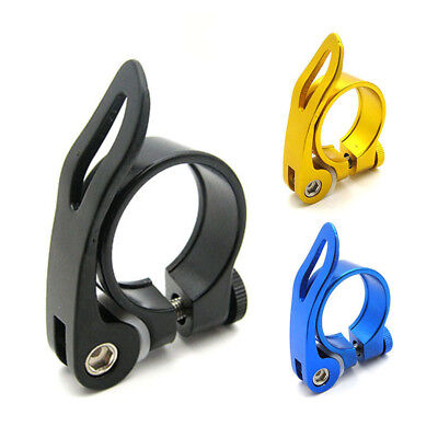 Bicycle Seat Post Clamp BMX Bike Seatpost Clip Holder Quick Release 34.9mm KXN3