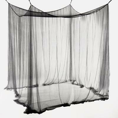 Bedroom Home Bed Canopy Netting Curtain Midge Insect Mesh Mosquito Net Black GR