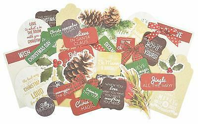 ~ Basecoat Christmas ~ COLLECTABLES 50+ Die Cut Shapes Scrapbook Card Making
