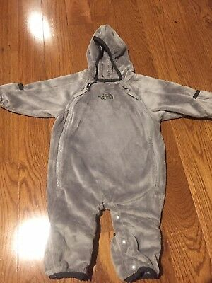 North Face Baby Bunting Gray 0-3 months