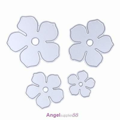 4pcs Metal Flowers DIY Cutting Dies Die Cut Stencil Decorative Scrapbooking