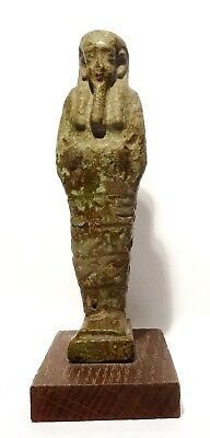 Grand Oushebti Egyptien En Faience Glacuree 664/332 Bc - Ancient Egyptian Shabti