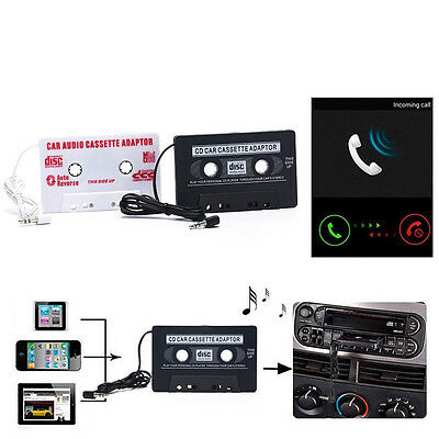 3.5mm Car Stereo Cassette Tape Adapter For Mobile Smart Phone Audio CD Player IO