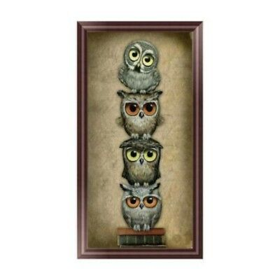 DIY 5D Diamond Embroidery Owls Painting Cross Stitch Art Craft Home Decoration