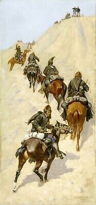 Scouts Climbing a Mountain by Frederic Remington Giclee Repro Canvas
