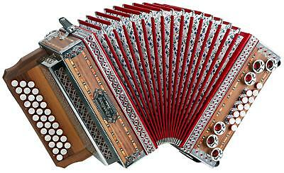 Professional Piano Accordion 33 Button Keyboard 12 Helicon Basses Tuning G-C-F