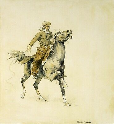 The Cowboy by Frederic Remington Giclee Repro Canvas
