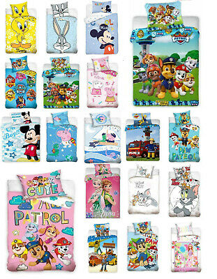 Baby Kinder Bettwäsche DISNEY 100x135  Winnie Minni Cars Frozen Peppa PAW Patrol