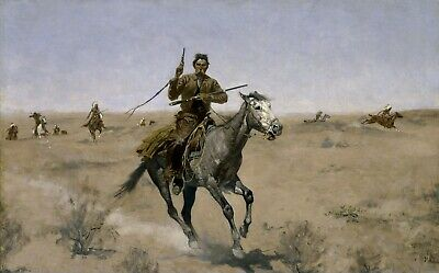 The Flight by Frederic Remington Giclee Repro Canvas