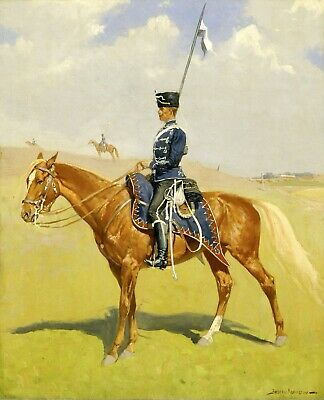 The Hussar by Frederic Remington Giclee Repro Canvas