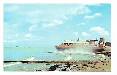 Southsea to Ryde, Isle of Wight Hovercraft Vintage 1960's Postcard  862A