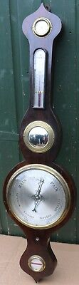 Very Nice Tidy Looking Old Large 5 Dial Barometer