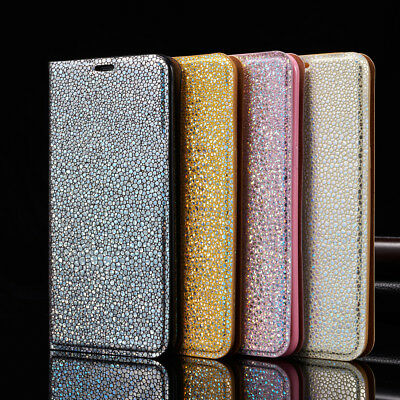 Magnetic Leather Glitter Flip Bling Wallet Cover Case For iPhone 8 6 6s 7 Plus