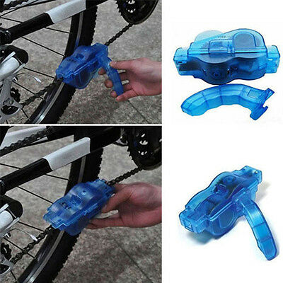 Bicycle Chain Cleaner Cycling Repair Kit Machine Brushes Scrubber Wash Tool Blue
