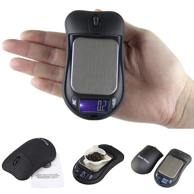 Jewelry Digital Scale 100-500g/0.01g LCD Display Mouse Shape Pocket Size Fashion
