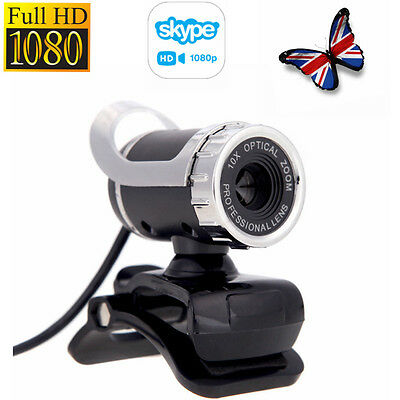 360°USB 2.0 1080P HD WebCam Web Camera with MIC Adjustable for Skype Video Chat