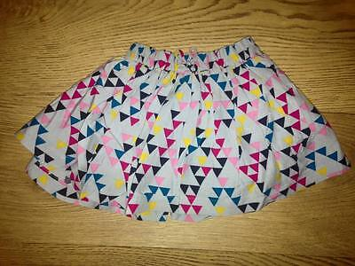 Ex Next Stock Grey & Multi Coloured Triangle Shapes Skirt. 3/6 Months. BNWOT