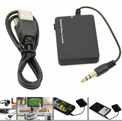 New 3.5mm Bluetooth Stereo Music Transmitter A2DP Audio Adapter Dongle For TV PC