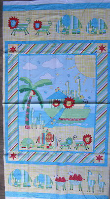 Two By Two Noahs Ark Cotton Quilting/wall Panel Brand New