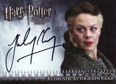 Harry Potter Half Blood Prince Update Helen McCrory as Narcissa Malfoy Auto Card