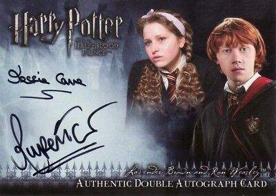 Harry Potter Half Blood Prince Update Rupert Grint & Jessie Cave Dual Auto Card