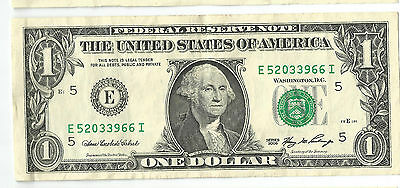 Treasury E - RICHMOND 2006 USA $1 dollar paper note American greenback