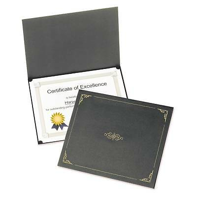 Oxford® Certificate Holder, 11 1/4 x 8 3/4, Black, 5pk