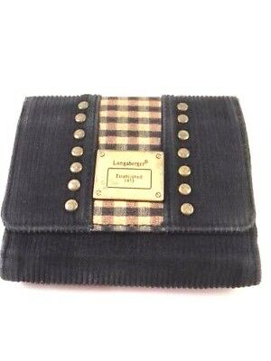 Longaberger Homestead Corduroy Trifold Women's Small Wallet Coin Purse