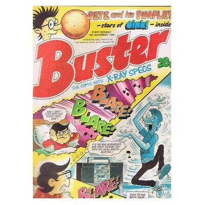 Buster Comic  November 19 1988 MBox2789 Pete and his Pimple!