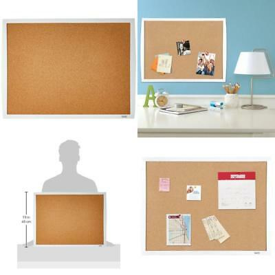 Cork Bulletin Board White Frame Home Office Study Pin Notes Photos Papers