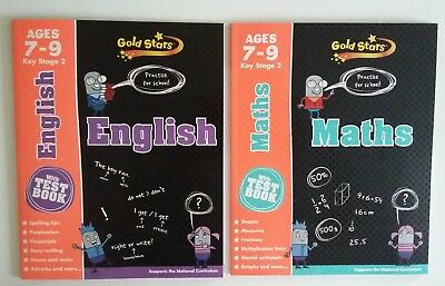 Gold Stars English & Maths Ages 7-9 Key Stage 2  (set of 2 books)