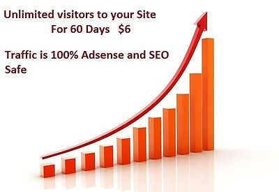 Unlimited Website traffic For 60 Days,  $4.00