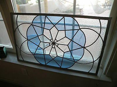 """stained glass window, panel, beautiful, unique design great condition 31.5""""X19"""""""